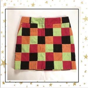 Vineyard Vines Multicolor patchwork mini skirt (C9